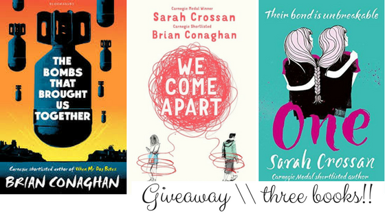 Giveaway three books